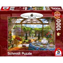Puzzle Schmidt: Dominic Davison - Vedere din camera de zi, 1000 piese