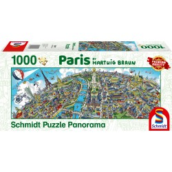 Puzzle Schmidt: Hartwig Braun - Paris, 1000 piese