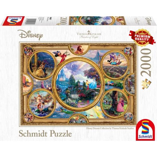 Puzzle Schmidt: Thomas Kinkade - Disney - Disney Dream Collection, 2000 piese