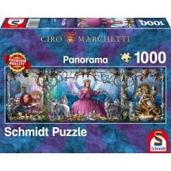 Puzzle Schmidt: Ciro Marchetti - Palat de gheață, 1000 piese