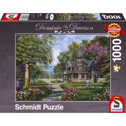 Puzzle Schmidt: Dominic Davison - Conac cu turn, 1000 piese
