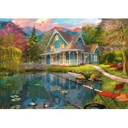 Puzzle Schmidt: Dominic Davison - Casa de vacanță de pe malul lacului, 1000 piese