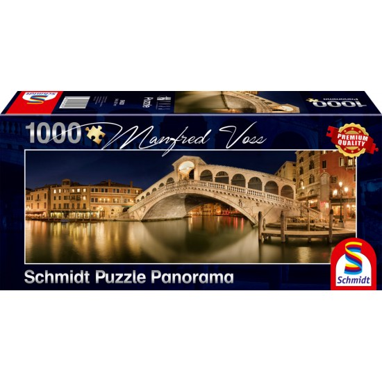 Puzzle Schmidt: Manfred Voss - Podul Rialto, 1000 piese