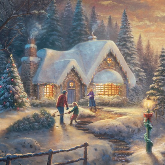 Puzzle Schmidt: Thomas Kinkade - Puzzle în glob de crăciun, 100 piese