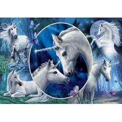 Puzzle Schmidt: Lisa Parker - Unicorni fermecători, 1000 piese