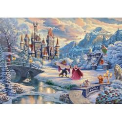 Puzzle Schmidt: Thomas Kinkade - Disney - Frumoasa și Bestia, 1000 piese
