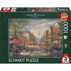 Puzzle Schmidt: Thomas Kinkade - Cafenea în München, 1000 piese