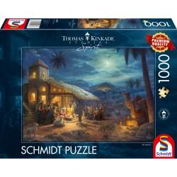Puzzle Schmidt: Thomas Kinkade - Spirit - Nașterea lui Isus, 1000 piese