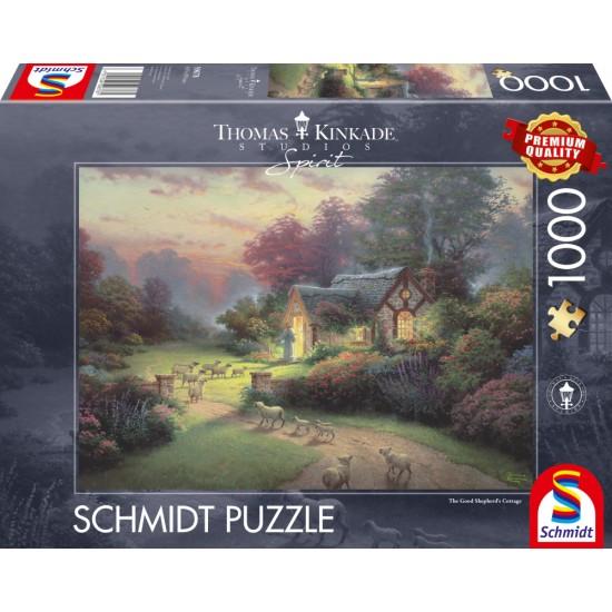 Puzzle Schmidt: Thomas Kinkade - Spirit - Căminul Bunului Păstor, 1000 piese