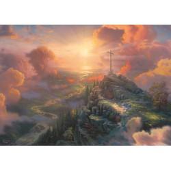 Puzzle Schmidt: Thomas Kinkade - Spirit - Crucea, 1000 piese