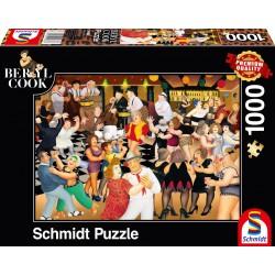 Puzzle Schmidt: Beryl Cook - Petrecere de noapte, 1000 piese