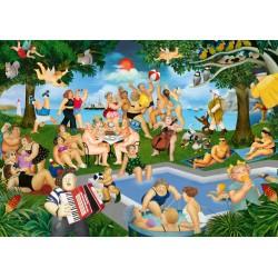 Puzzle Schmidt: Beryl Cook - Petrecere de vara, 1000 piese