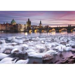 Puzzle Schmidt: Christian Ringer - Lebede din Praga, 1000 piese