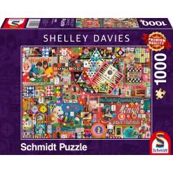 Puzzle Schmidt: Shelley Davies - Jocuri de societate vintage, 1000 piese