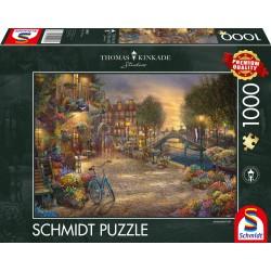 Puzzle Schmidt: Thomas Kinkade - Amsterdam, 1000 piese