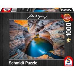 Puzzle Schmidt: Mark Gray - Indigo, 1000 piese