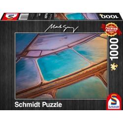 Puzzle Schmidt: Mark Gray - Pasteluri, 1000 piese