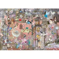 Puzzle Schmidt: Ilona Reny - Frumusețe roz, 1000 piese