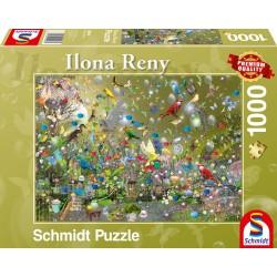 Puzzle Schmidt: Ilona Reny - Jungla de papagali, 1000 piese